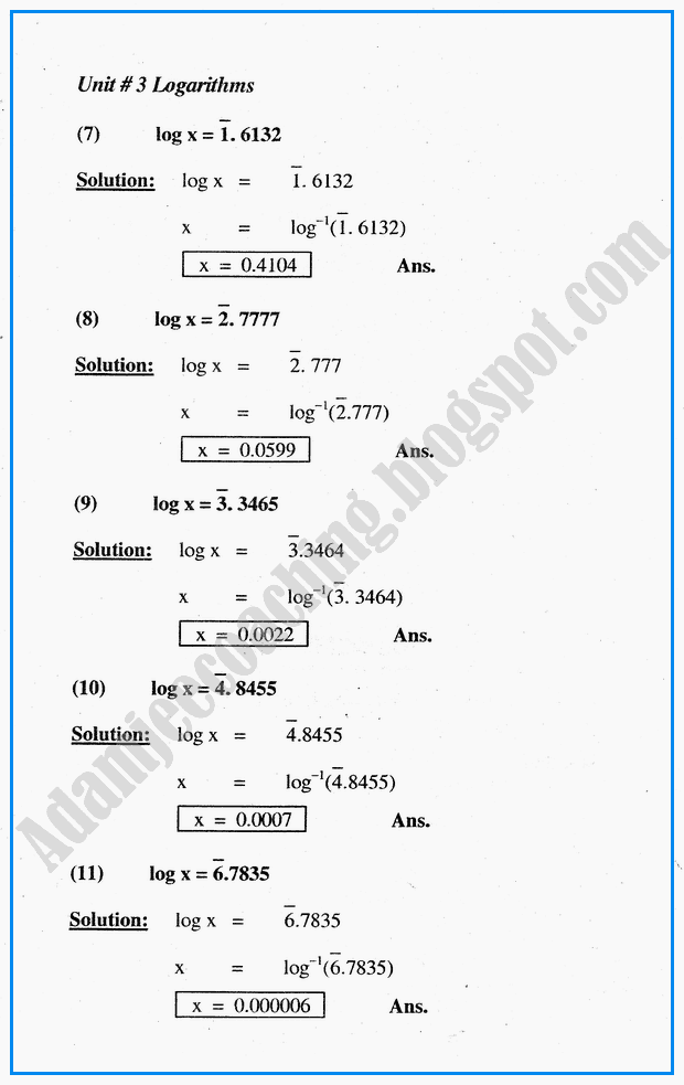 exercise-35-logarithms-mathematics-notes-for-class-10th