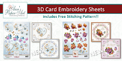 New!!! 3D Card Embroidery Sheets