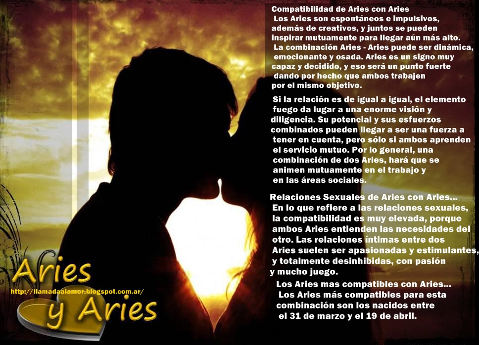 leo y aries: