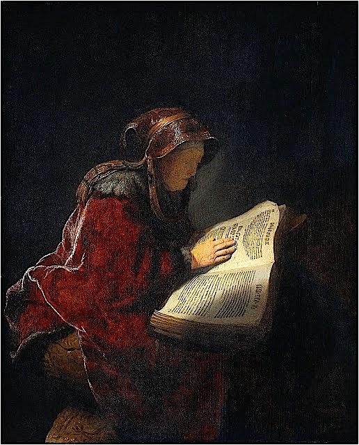 Rembrandt. Anna la Profetisa,1631