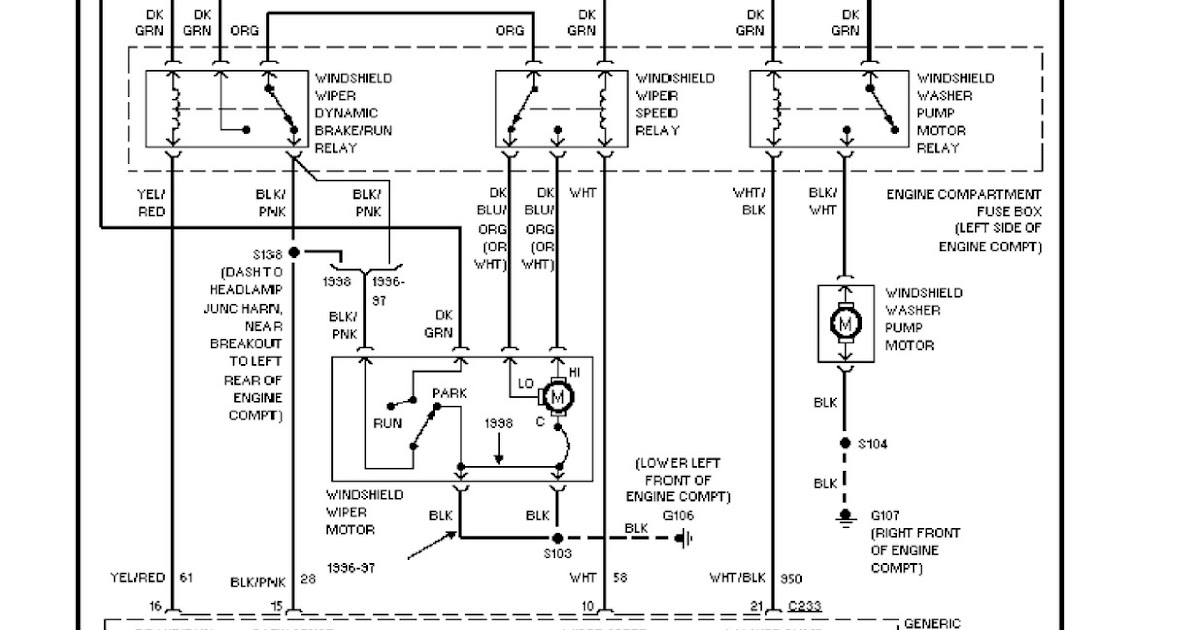 1997 ford windstar system wiring diagrams for front washer