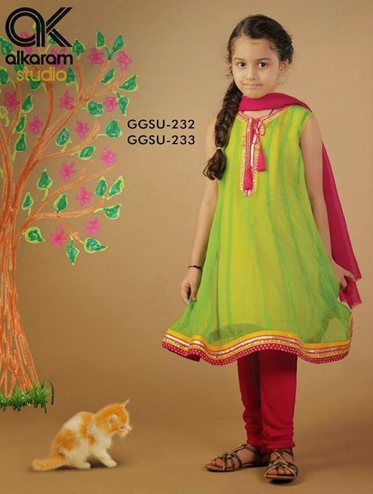 Alkaram kids wear collection 2014