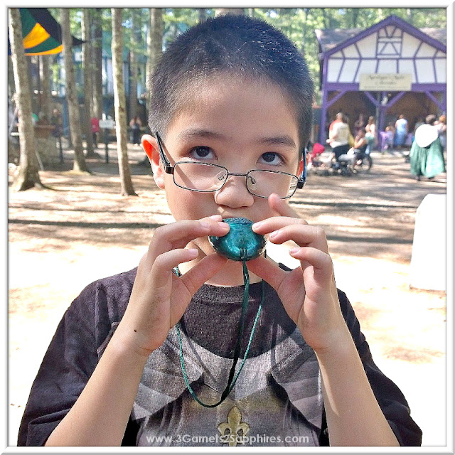 Ocarina souvenir from Magical Ocarinas at King Richard's Faire 2015 #krfaire