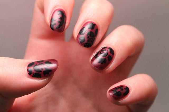 Floral Brocade Nail Art