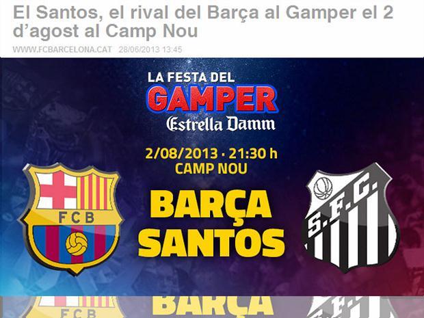 Barcelona e Santos se enfrentarão no dia 2 de agosto em partida amistosa 6081117913c36