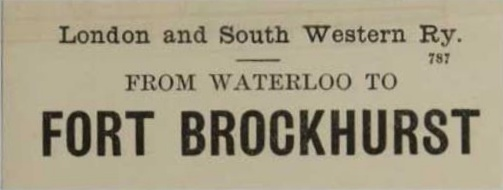 Fort Brockhurst Ticket