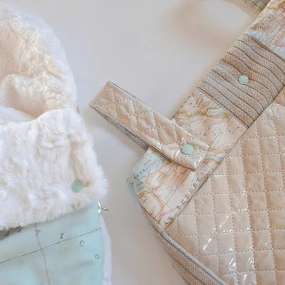 Patrón PDF saco y bolso para silla de bebe