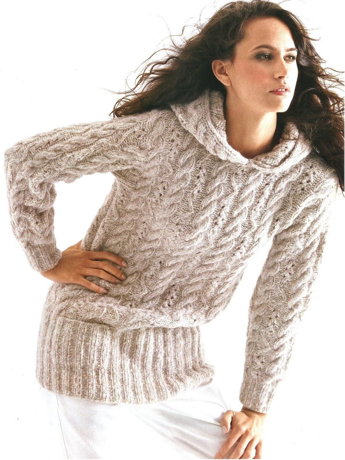 Вязание на спицах мужской свитер сверху 93
