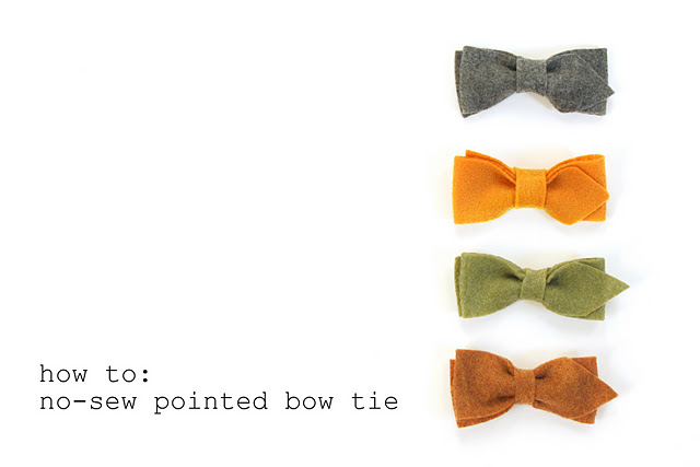 No sew pointed bow tie tutorial little birdie secrets it often gets forgotten and i think its a great nod to mens and boys fashion from decades and even centuries ago making it out of felt not only makes ccuart