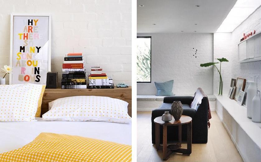 Theroom materiales paredes de ladrillo blanco - Pared ladrillo blanco ...