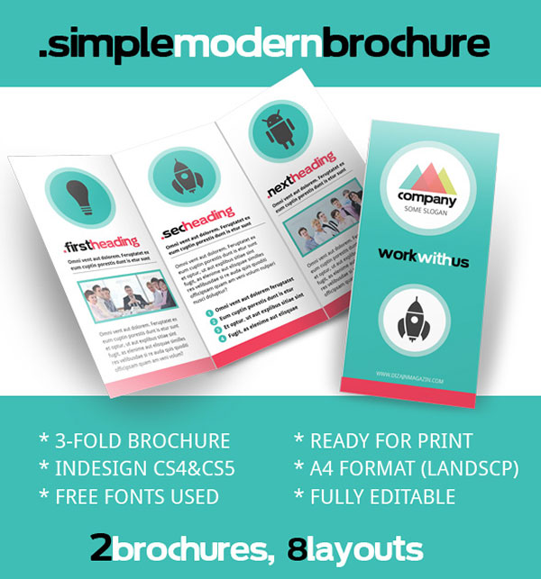 Brochure zafira pics indesign brochure templates for Free brochures template