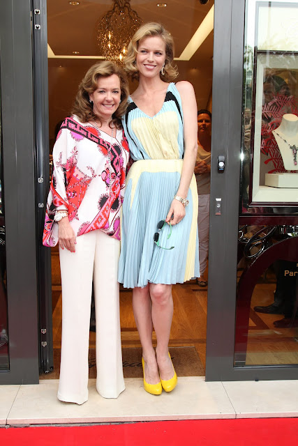 Eva Herzigova y Caroline Scheufele Re-abren la boutique Chopard boutique en la Croisette