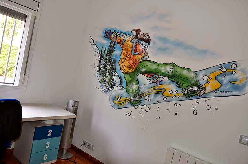 Berok graffiti mural profesional en barcelona consultas for Graffitis para habitaciones