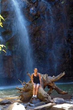 Hannah portrait with waterfall
