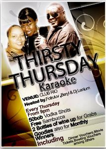 THIRSTY THURSDAY WITH BERYL, 4TRULUV AND DEEJAY LENIUM