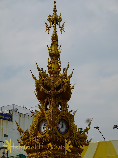North Thailand - Golden Clock Tower of Chiang Rai