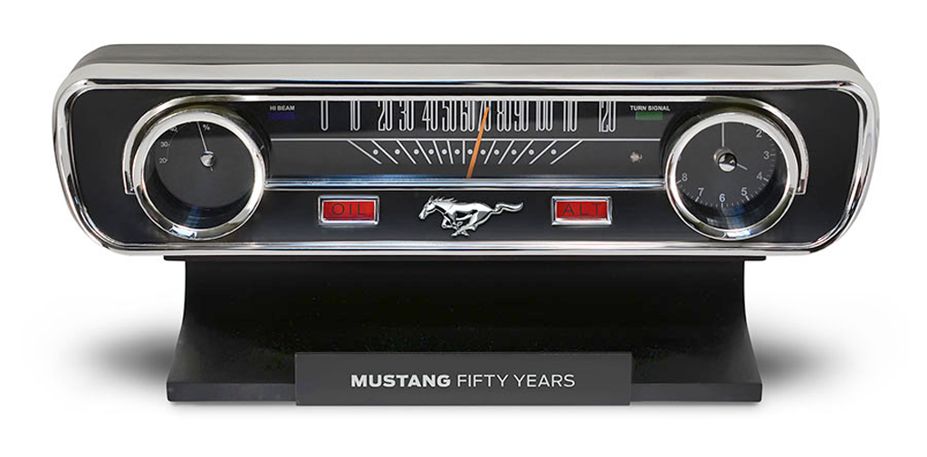 Enter to win a Mustang 50th Anniversary Desktop Clock Giveaway. Ends 9/8.