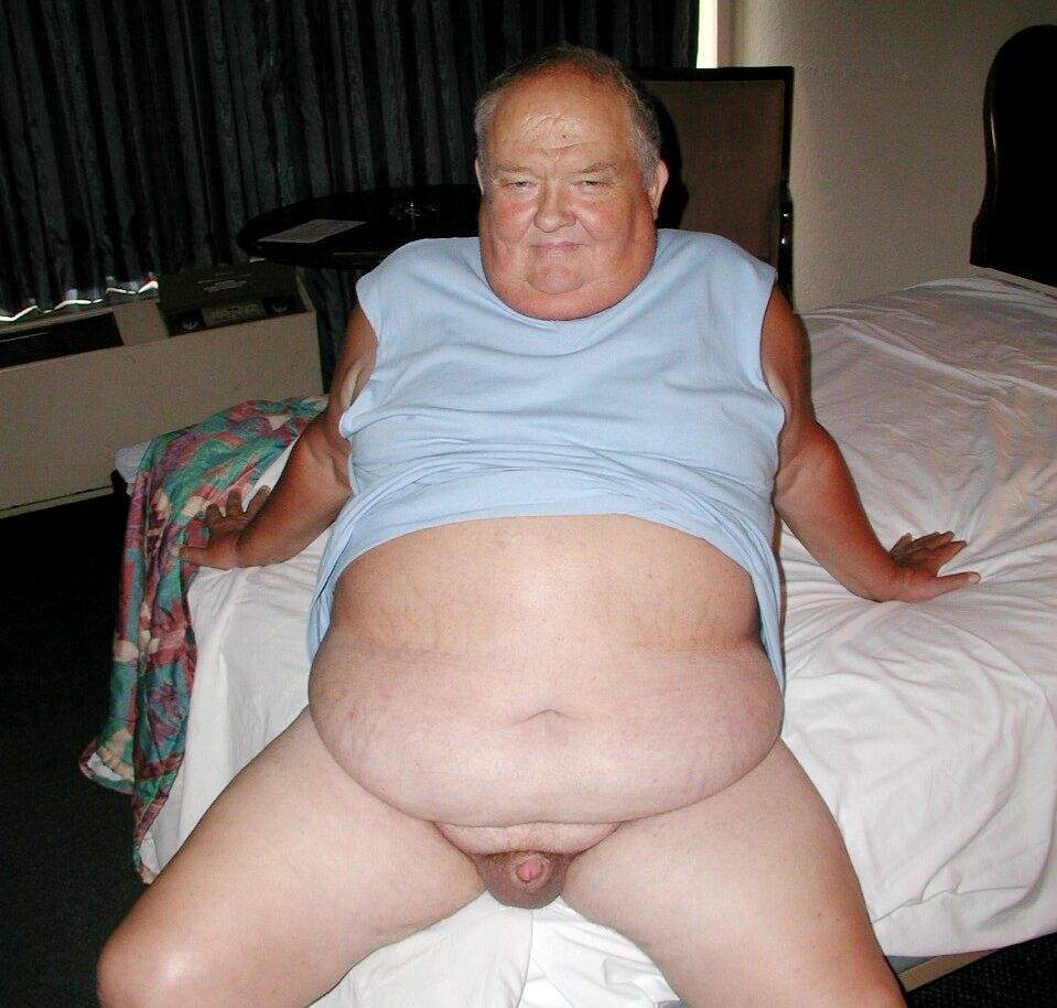 Fat naked old men big belly