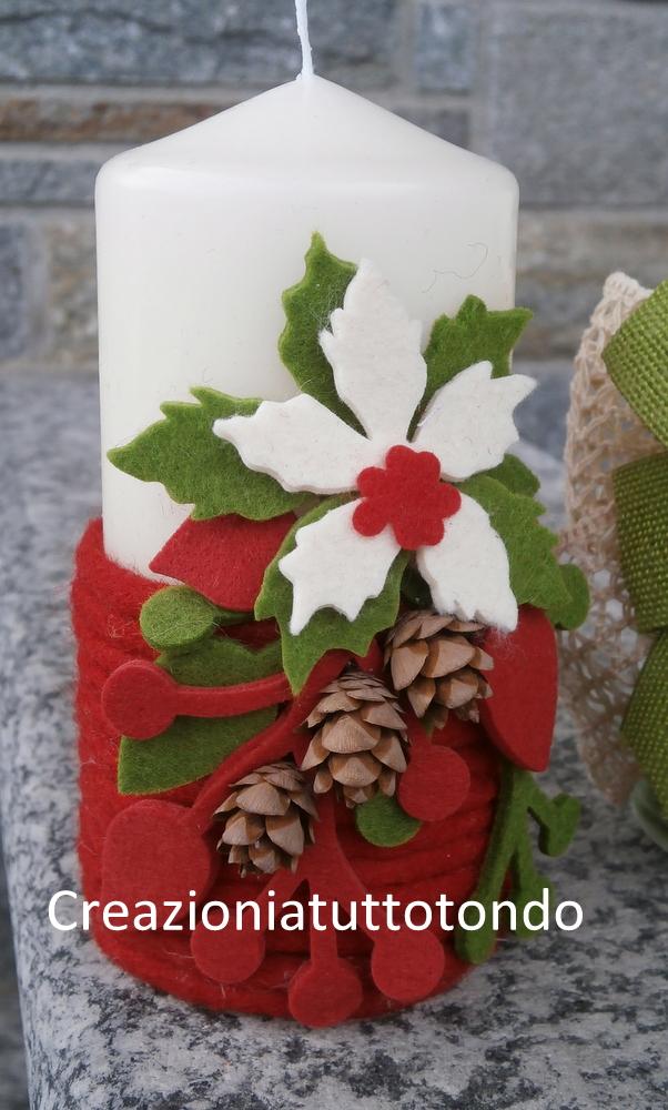 Creazioni a tutto tondo candele - Decorare candele per natale ...
