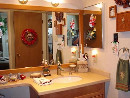 decorating the bathroom for christmas 2017 - Grasscloth Wallpaper