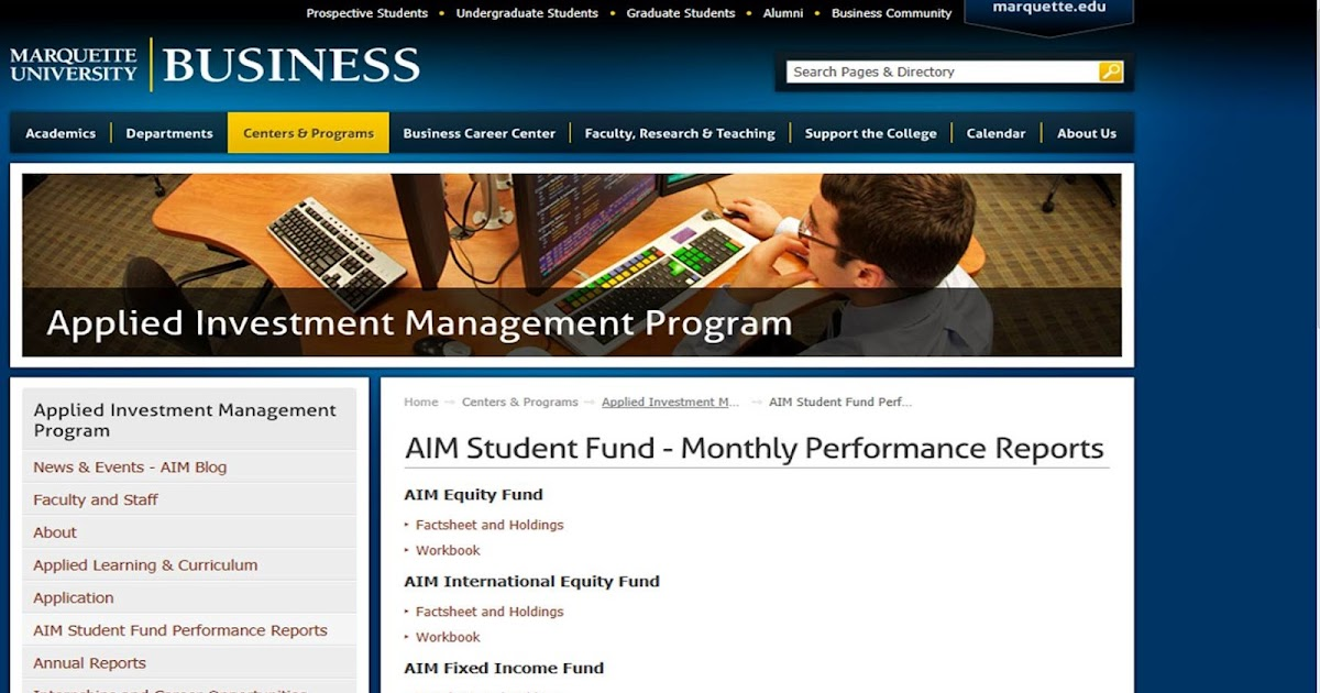 AIM PROGRAM BLOG: Complete February 2011 Performance ...