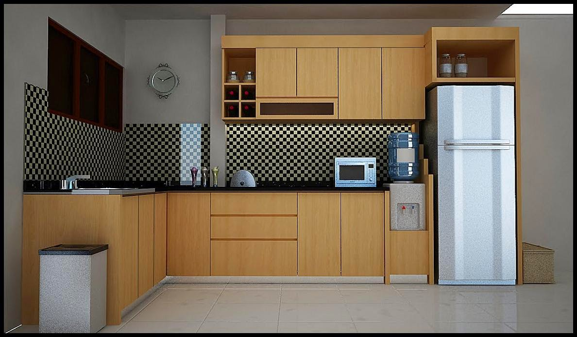 Solid teak wood kitchen cabinets