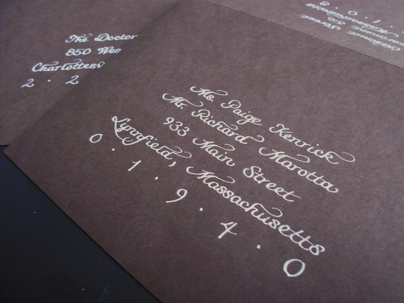 From The Ash Tree Meadow Wedding Calligraphy White