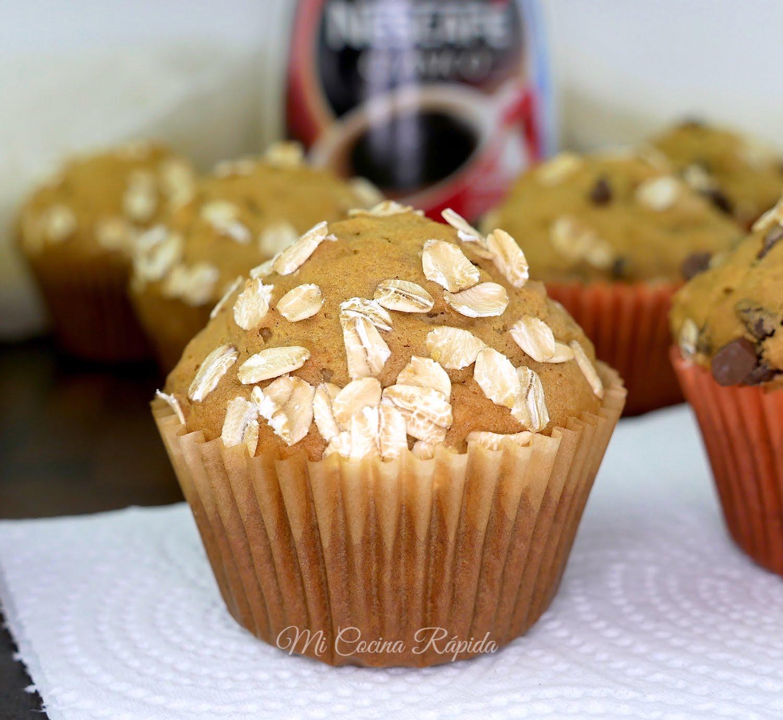 Muffins de Café y Avena - Mi Cocina Rápida