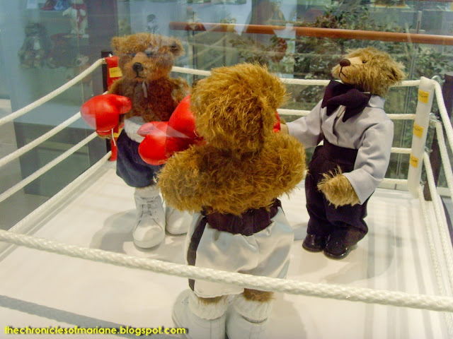 teddy bear boxing