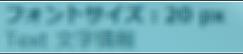 Aero Glass 下の文字 フォントサイズ:20 px Text 文字情報