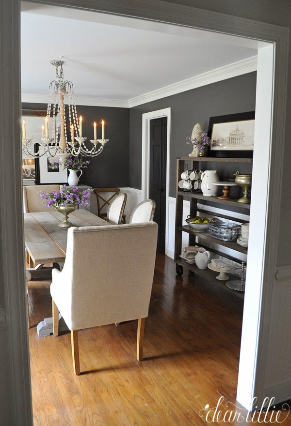 Kendall Charcoal In Our Dining Room Dear Lillie Bloglovin
