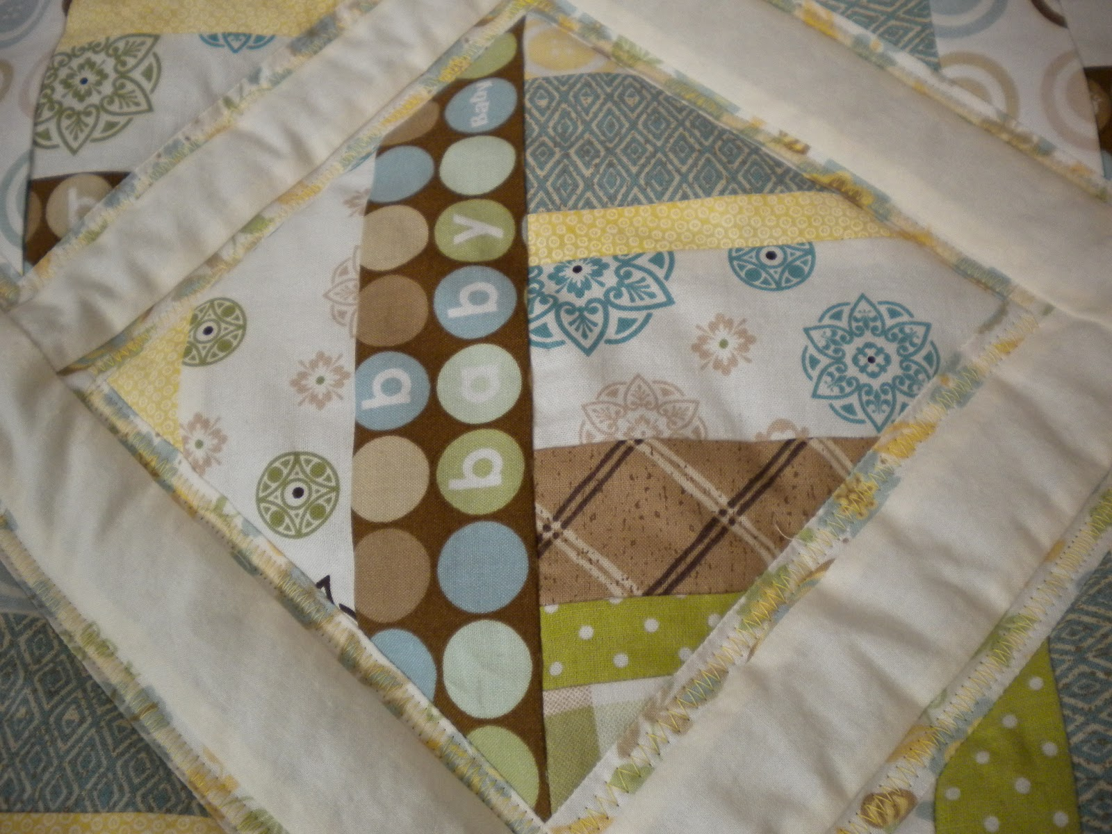 Desert diaries gender neutral baby quilt for Unisex baby fabric