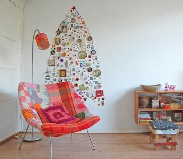 Where Do You Put Your Christmas Tree Part - 40: Simple Creative Space Saving Christmas Trees Ideas For Your Home With Where  Do You Put Your Christmas Tree.