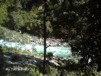 River Ganga during the Char Dham trip in the Garhwal Himalayas in Uttarakhand