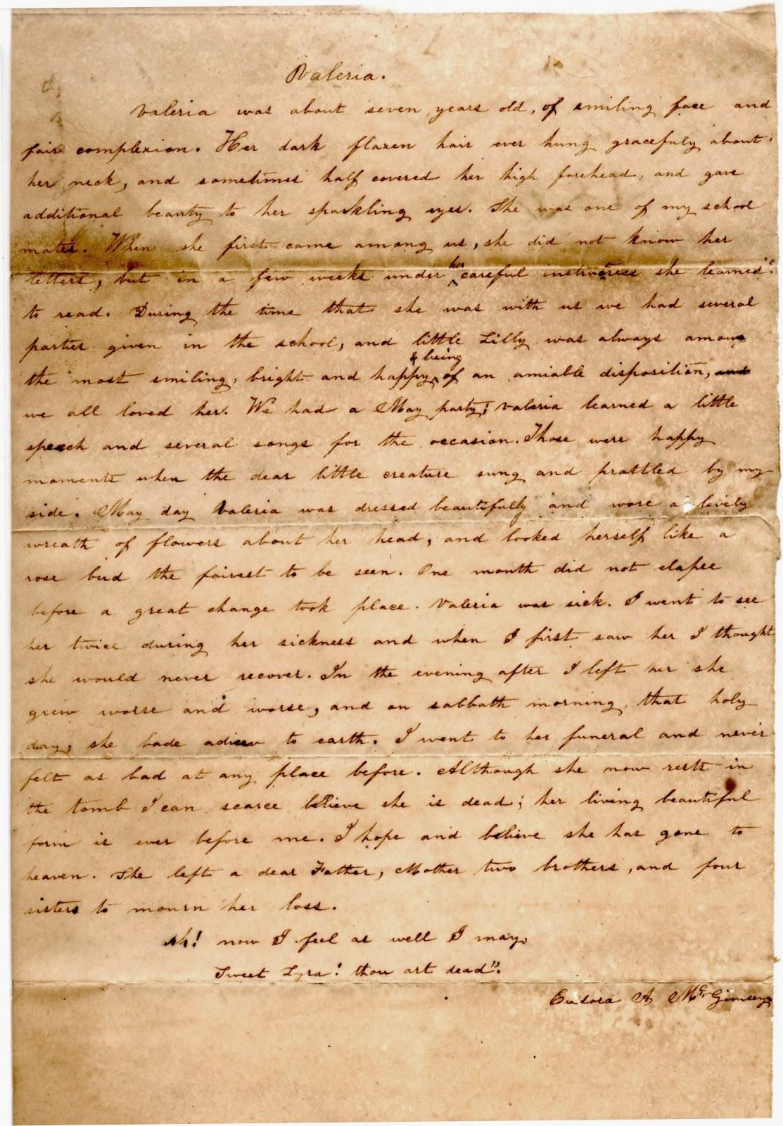 1846 essay Valeria, belletisdale.blogspot.com