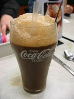 Despite others' theories on the matter, a Coke float requires no ice