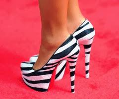 zebra print pumps