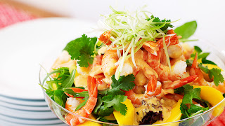 Mango and prawn salad Recipe | Healthy Seafood Recipe
