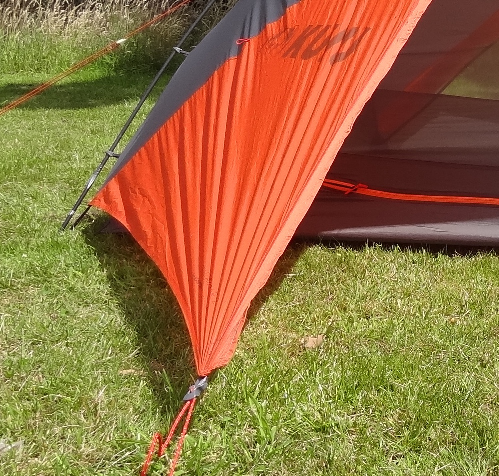 The door is pegged out and its not fully taught because its not zipped to the other door. (But for this exercise just think that it was.) & A Blog on the Landscape!: Kuiu Mountain Star 2P tent. 2015 model ...