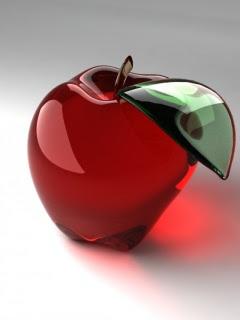 3D staklena jabuka download besplatne pozadine slike za mobitele