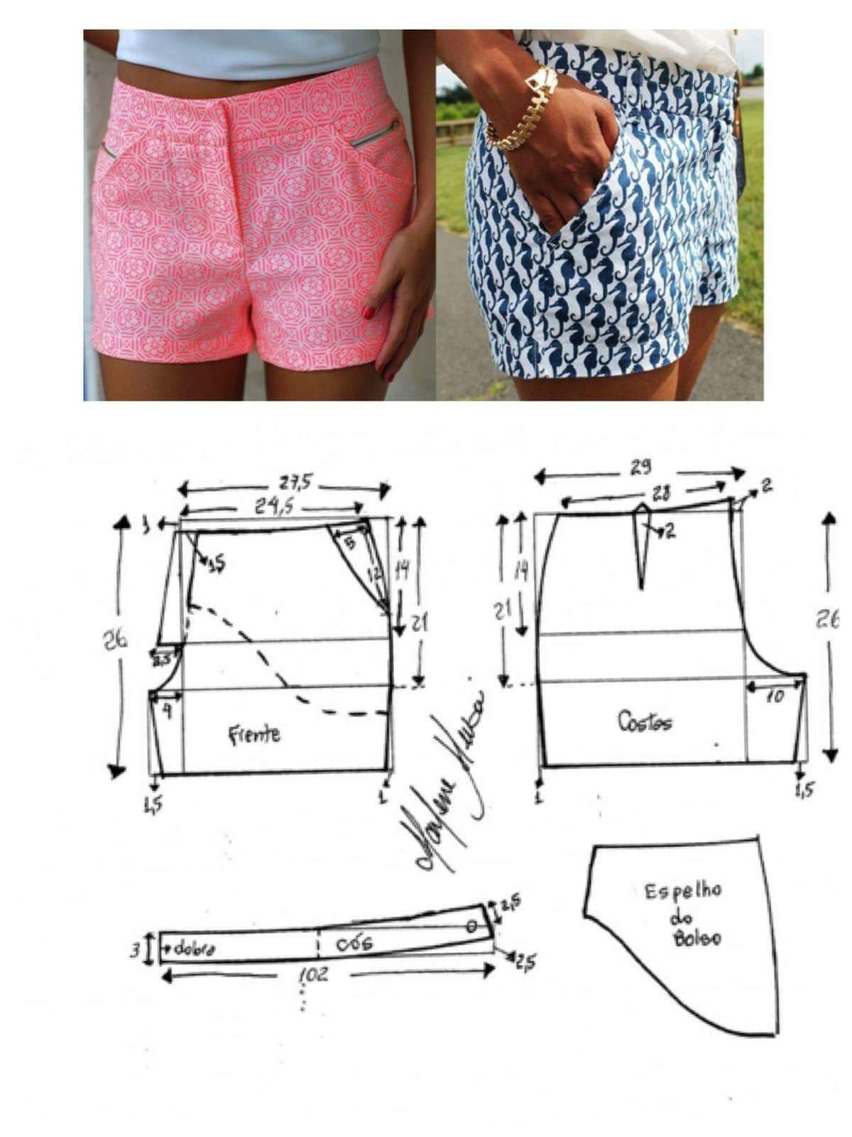 Пошив шортов своими руками выкройки 8