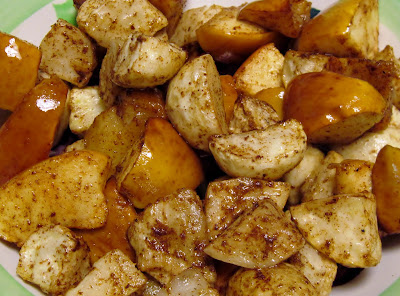 Sweet & spicy roasted turnips & apples