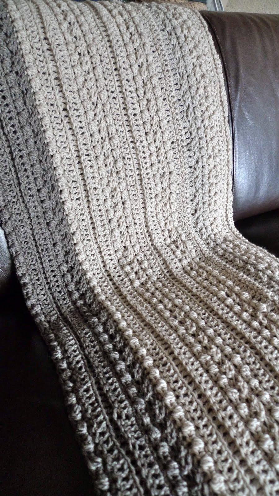 Crochet Pattern Aran Afghan : Queen Heron Creations: Crocheted Aran Afghan in Progress