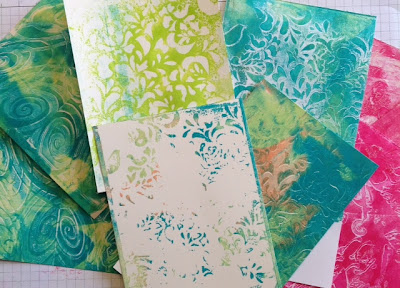 Backgrounds created with the Gelli Arts Plate
