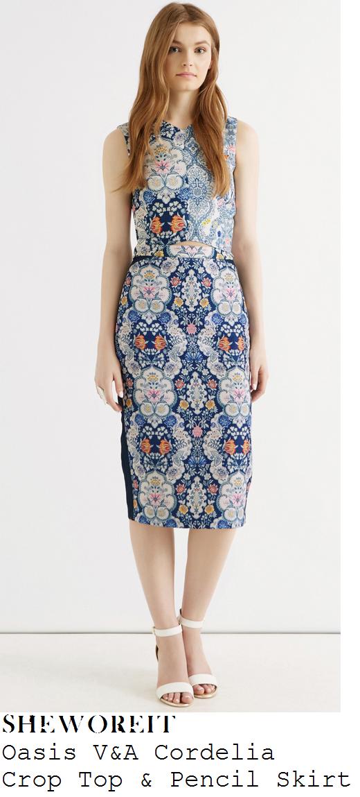 lydia-brigh-blue-white-multi-floral-print-crop-top-pencil-skirt-towie-marbs