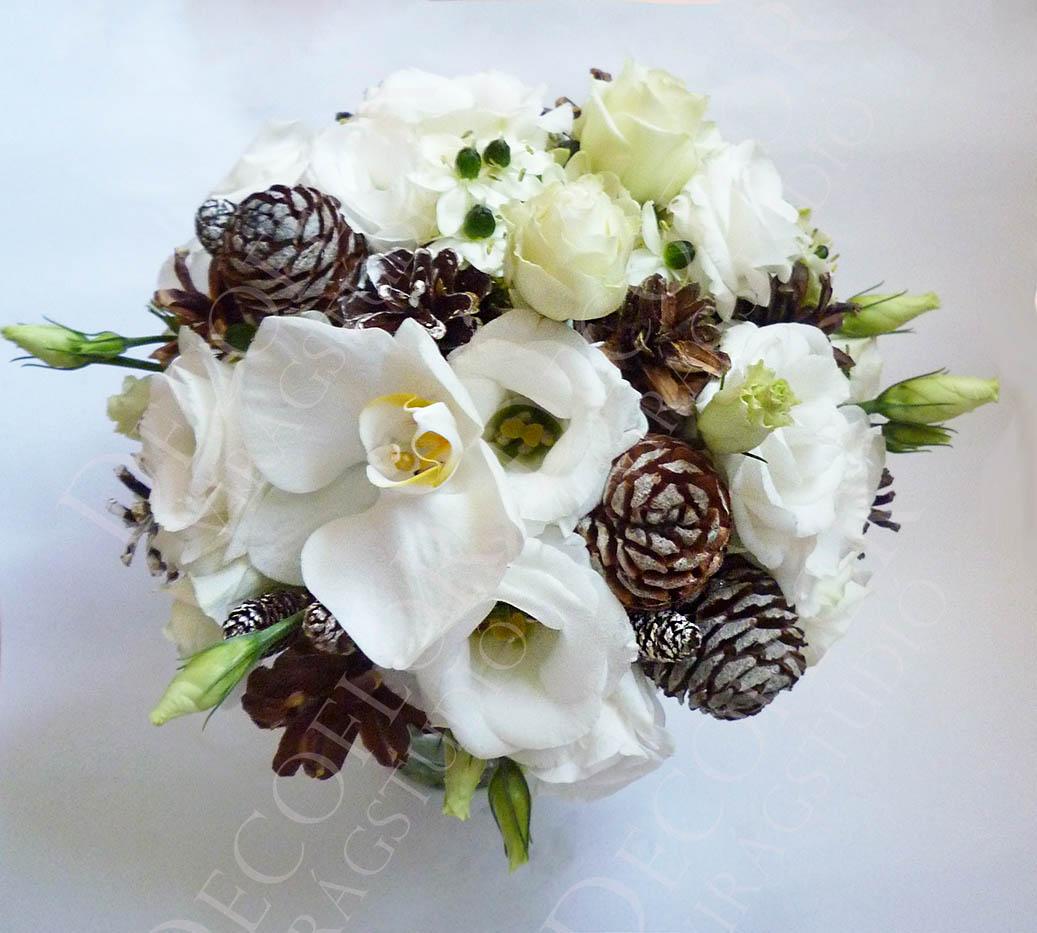 Téli esküvői csokrok