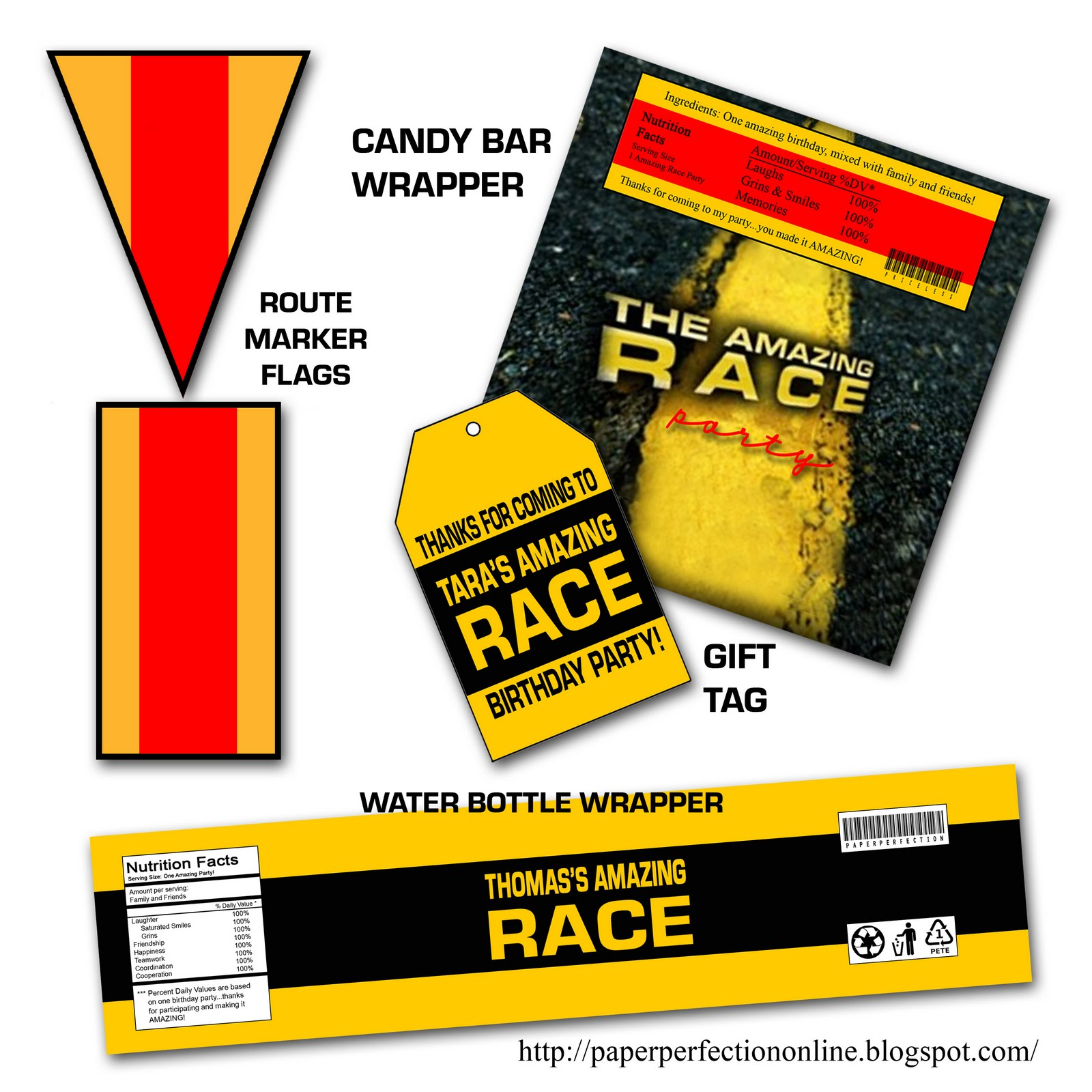 "Amazing Race: Paper Perfection: Free ""Amazing Race"" Birthday Party"