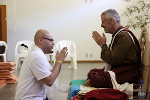 Eu e Lama Padma Samten