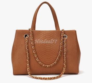 Fashion Women's Crocodile Pattern Chain Leather Handbag Shoulder Bag Tote 8HOT