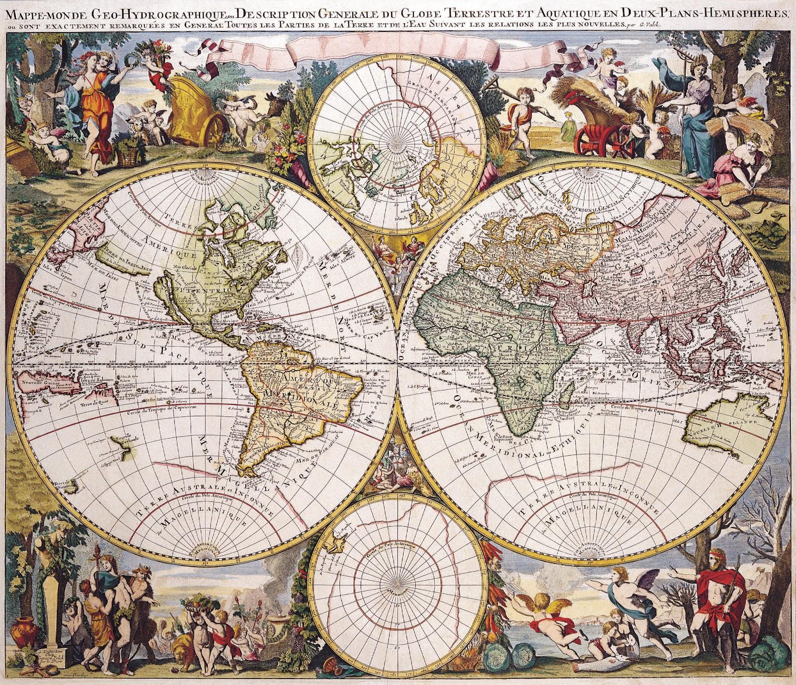 L'art magique: Cartes du monde au XVIIème siècle